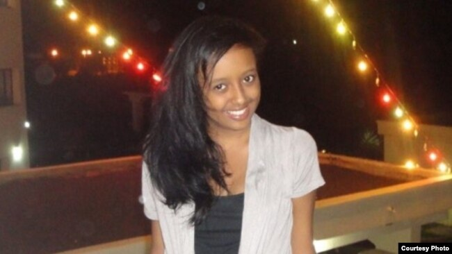 Ciham Ali Abdu pictured just before her arrest on December 8, 2012, when she was 15. (Photo courtesy of the family.)