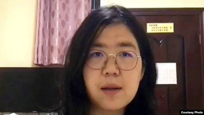 中国公民记者张展 (照片来源:无国界记者网站)