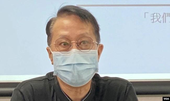 张国柱表示,民调反映市民对港府的期望感到灰心 (美国之音/汤惠芸)