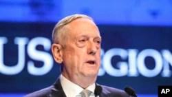 El secretario de Defensa de EE.UU., Jim Mattis, dice que Corea del Norte no recibirá alivio a sanciones hasta que se verifique la desnuclearización.