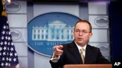 Mick Mulvaney, jefe de despacho de la Casa Blanca.