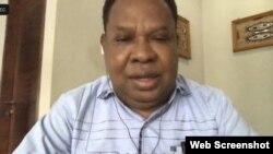 Ketua Sinode Gereja Kristen Injili (GKI) Tanah Papua, pendeta Andrikus Mofu, Kamis, 24 September 2020. (Foto: screenshot).