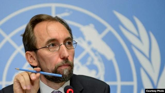 U.N. High Commissioner for Human Rights Jordan's Zeid Raad al-Hussein