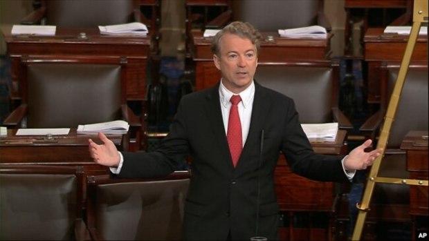 Senador republicano Rand Paul, único en su partido que ha anunciado su oposición a Mike Pompeo, director de la CIA, como Secretario de Estado.