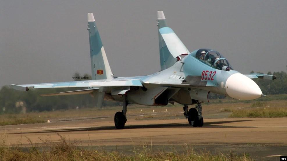 Máy bay chiến đấu Su-30 MK2 do Nga sản xuất.