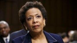 Bà Loretta Lynch là phụ nữ Mỹ gốc Phi Châu đầu tiên lãnh đạo Bộ Tư pháp Hoa Kỳ.
