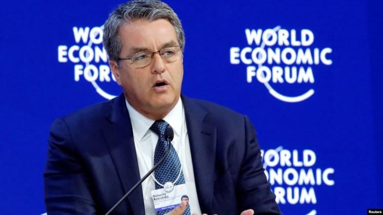Ông Roberto Azevedo, Tổng giám đốc WTO tham dự Diễn đàn Kinh tế Thế giới Davos, Thụy Sĩ ngày 24/1/2018.