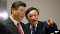 Çin Devlet Başkanı Xi Jinping,ve Huawei Şirketi Kurucu Başkanı Ren Zhengfei