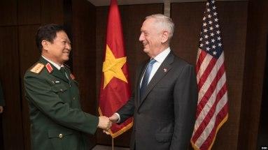 Bộ trưởng Quốc phòng Mỹ Mattis đã thăng Việt Nam tháng 1/2018