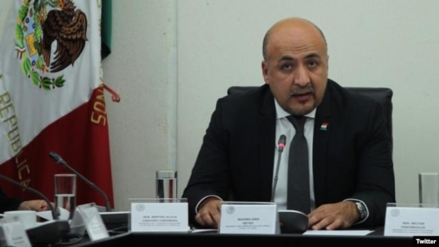 El subsecretario para América Latina y el Caribe de la Secretaría de Relaciones Exteriores (SRE) de México, Maximiliano Reyes, se dirigió al Senado esta semana tras su confirmación en el cargo.