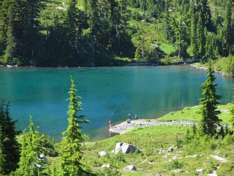 Fly fishing on Round Lake