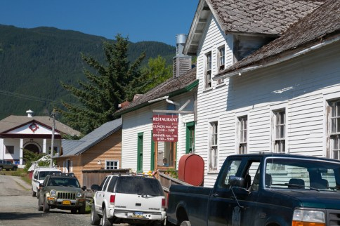 Fort Seward (entrance to the Fireweed Restaurant)