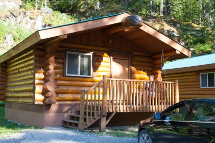 Our cabin at the Chilkoot Trail Outpost