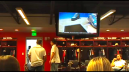 Here is another view of the players new locker room. These include new flat screen TV's and leather couches.