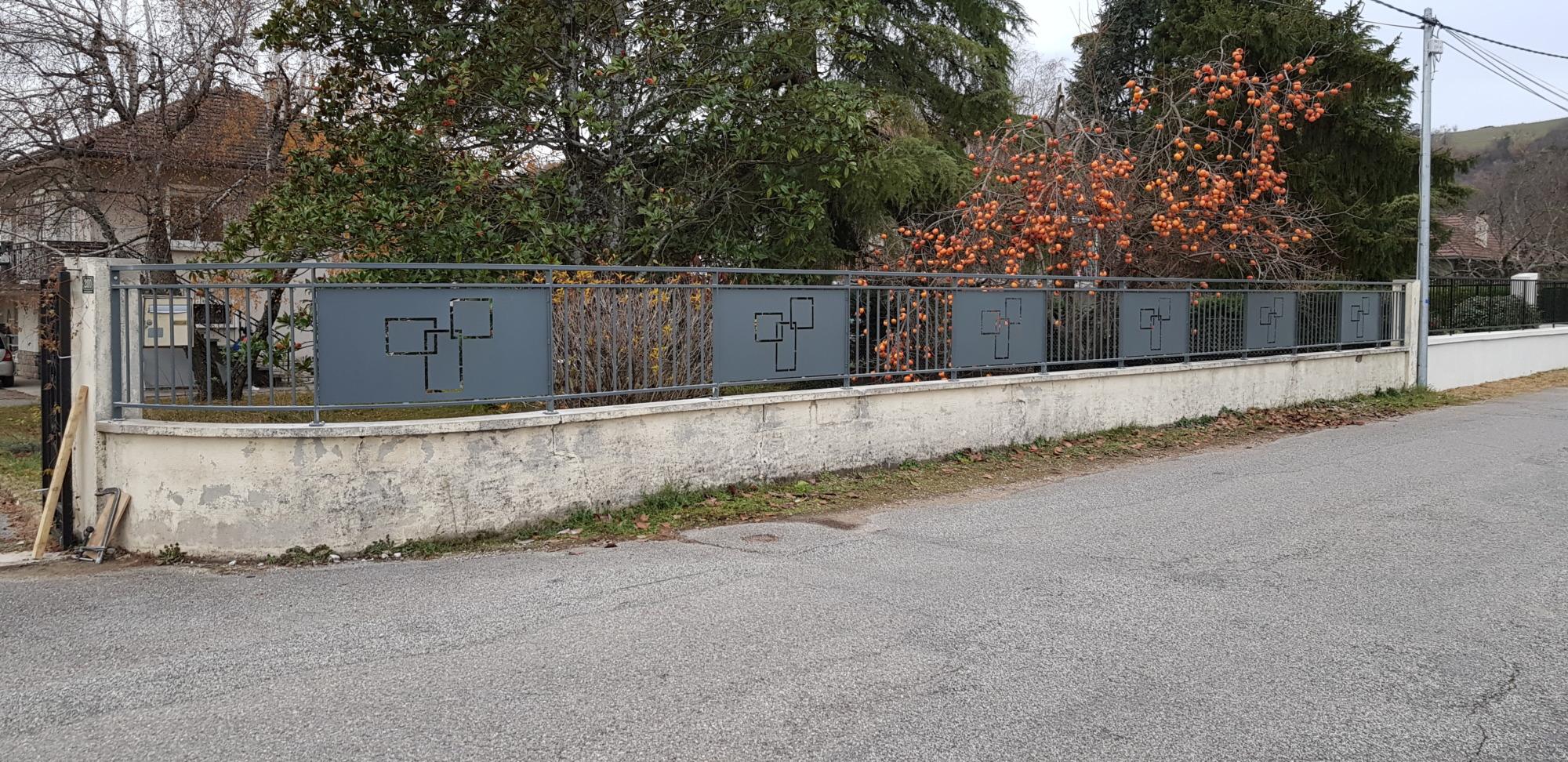 Clôture-barrière-Isère-sur mesure-métal-arrondi