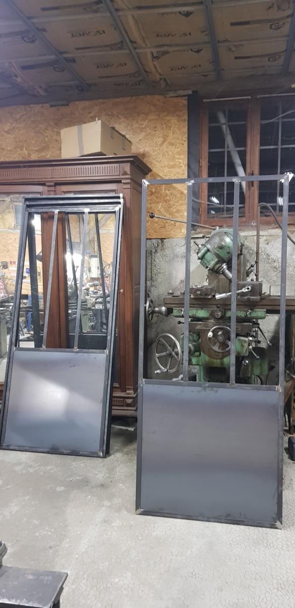 Verrière-porte-acier-atelier-design-Isère-Voiron
