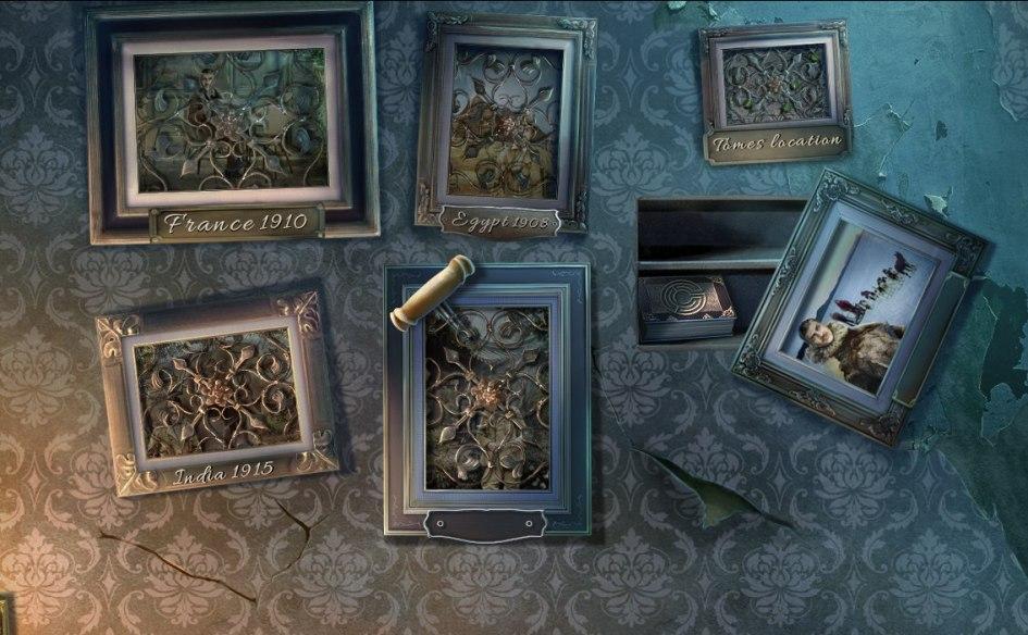 Sable Maze: Sinister Knowledge. Фотографии на стене рассказывают игроку о путешествиях хозяина библиотеки