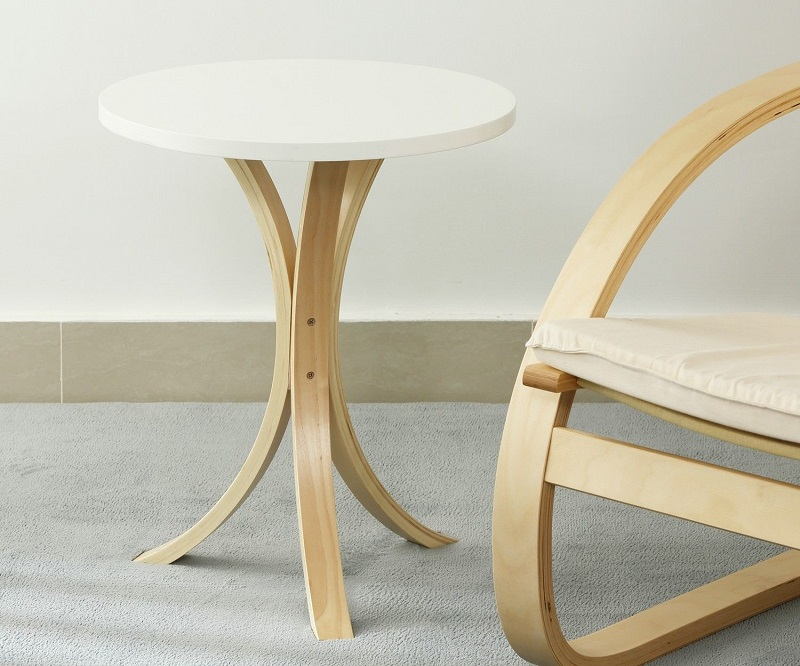 Simple Modern Wooden Small Round Table Coffee Table Small