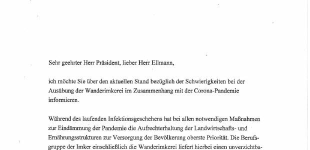 Antwortschreiben unserer Landwirtschaftsministerin Julia Klöckner