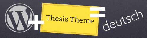 Wordpress Thesis deutsche Sprachdatei