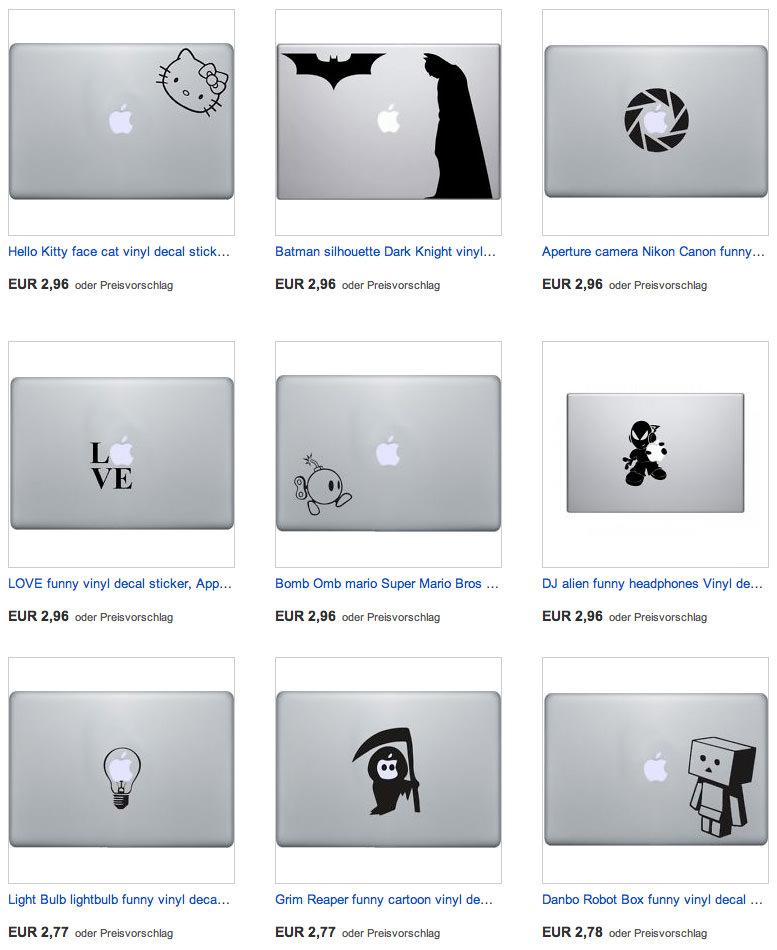 Aufkleber-Macbook