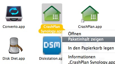 CrashPlan auf DiskStation 5