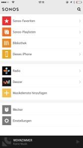 Sonos Controlle App iPhone1