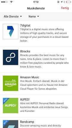 Sonos Controlle App iPhone8
