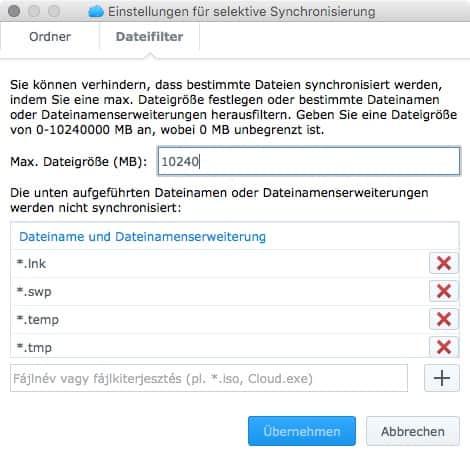 Cloud Station Client Screenshots OS X 3