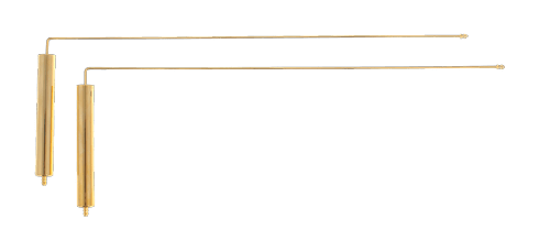 Rayfinder L rods gold antenna