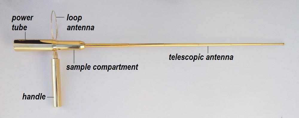 gold dowsing antenna rods detector apollo