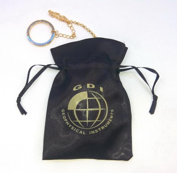 SIRIOS radiesthesia gold-water dowsing pendulum pouch