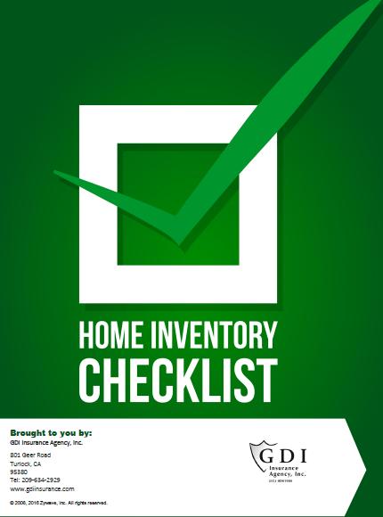 Home Inventory checklist