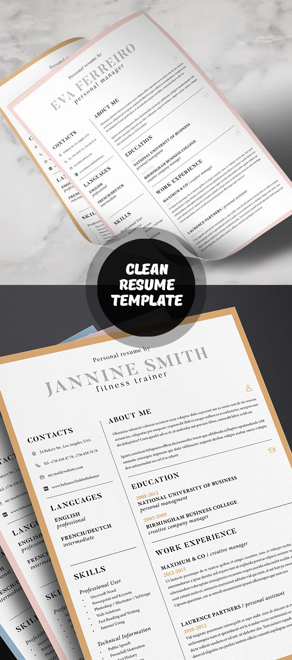 These resume templates highlight your sales and marketing abilities using. 20 Free Cv Resume Templates Psd Mockups Freebies Graphic Design Junction