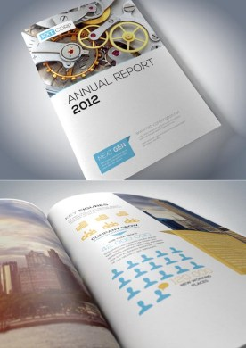 Corporate Brochure Designs 25 Inspiring Examples   Design   Graphic     Annual Report Brochure