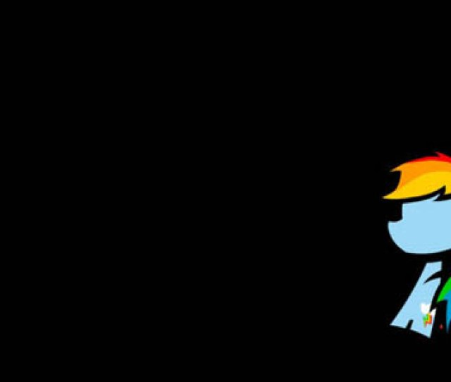 Colorful Minimalistic Rainbow Dash Cartoon Minimal Hd Wallpapers