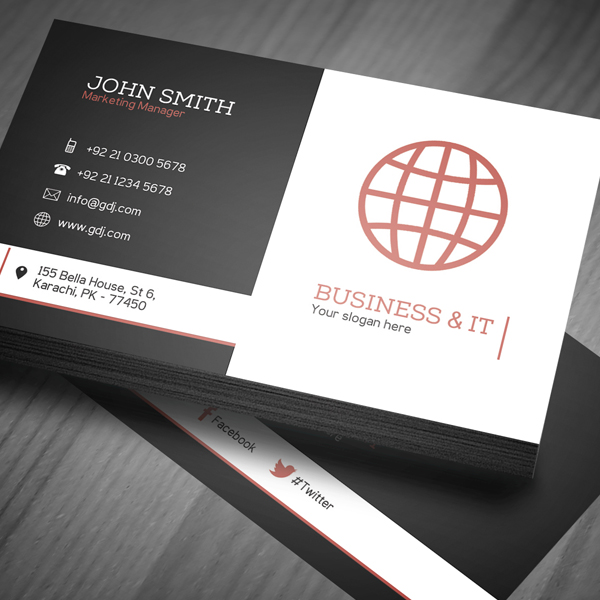 Free Corporate Business Card Template  PSD    Freebies   Graphic     Corporate Business Card Template PSD   1