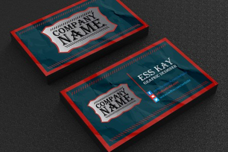 Free Business Cards PSD Templates   Print Ready Design   Freebies     Free Vintage Business Card Template Design
