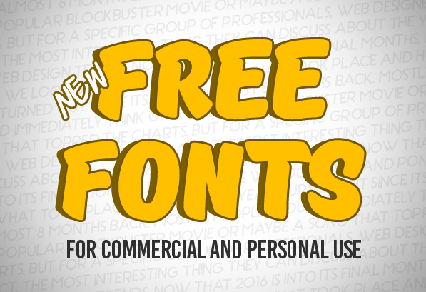 Download New Free Fonts for Commercial Use   Fonts   Graphic Design ...