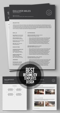 50 Best Minimal Resume Templates   Design   Graphic Design Junction 50 Best Minimal Resume Templates   23