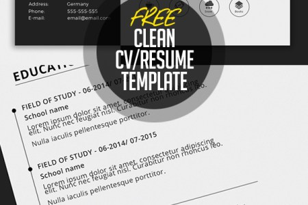 Free Resume Templates for 2017   Freebies   Graphic Design Junction Simple CV Resume Template Free Download