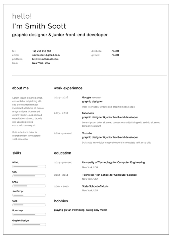 Resume Template 2014 - Resume Sample