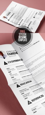 Online Free Resume Template  Simple And Stylish Design Cv Resume     Free Resume Templates For Freebies Graphic Design Junction