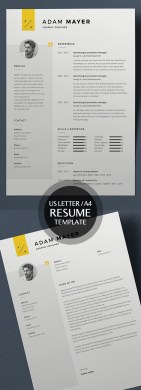 50 Best Minimal Resume Templates   Design   Graphic Design Junction 50 Best Minimal Resume Templates   3