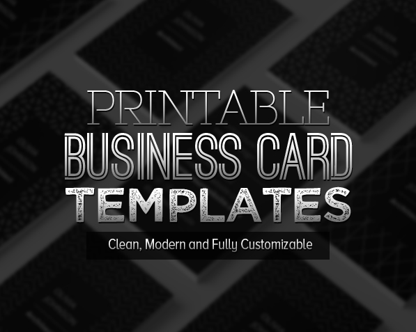 New Printable Business Card Templates   Design   Graphic Design Junction New Printable Business Card Templates