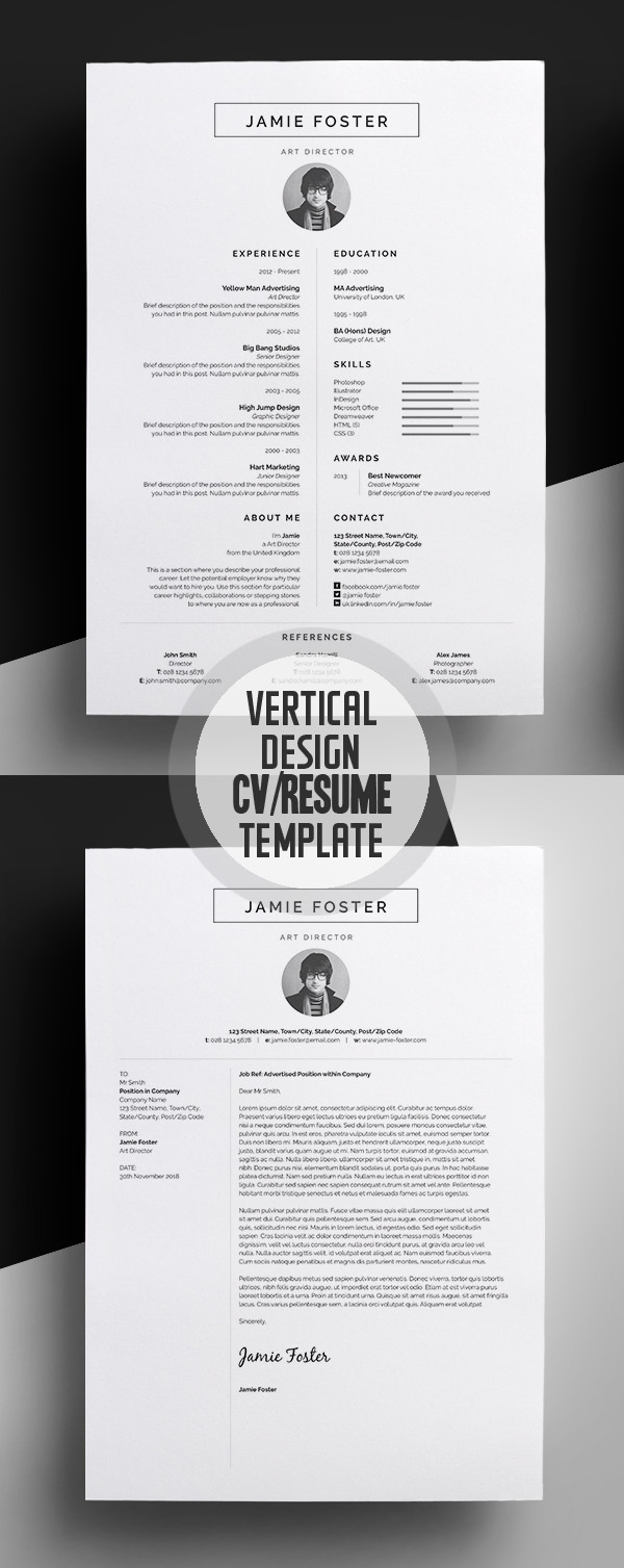 50 Best Resume Templates For 2018   Design   Graphic Design Junction 50 Best Resume Templates For 2018   4