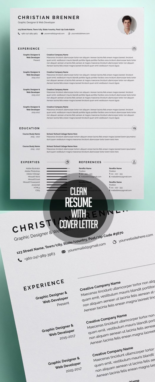 Clean Resume/CV With Cover Letter