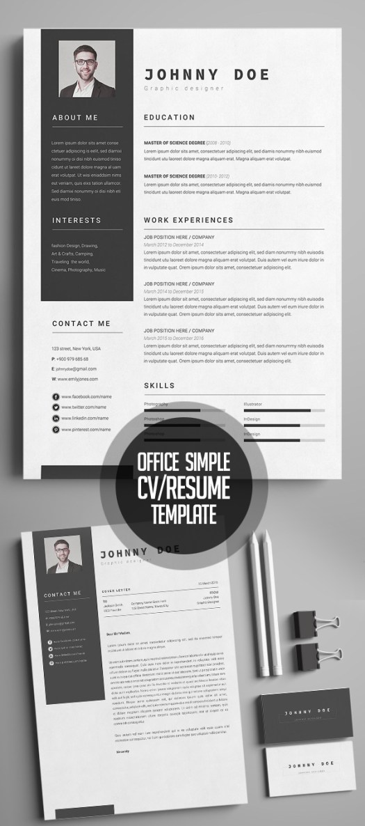 Office Simple CV-Resume Template