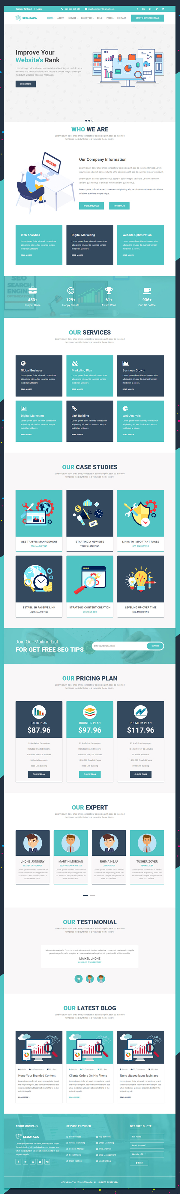 Free PSD Seo Responsive Bootstrap Website Template