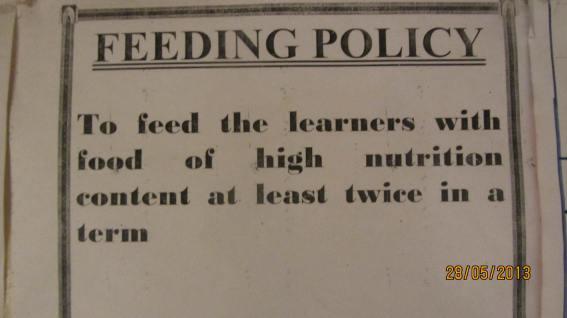 Community school feeding policy